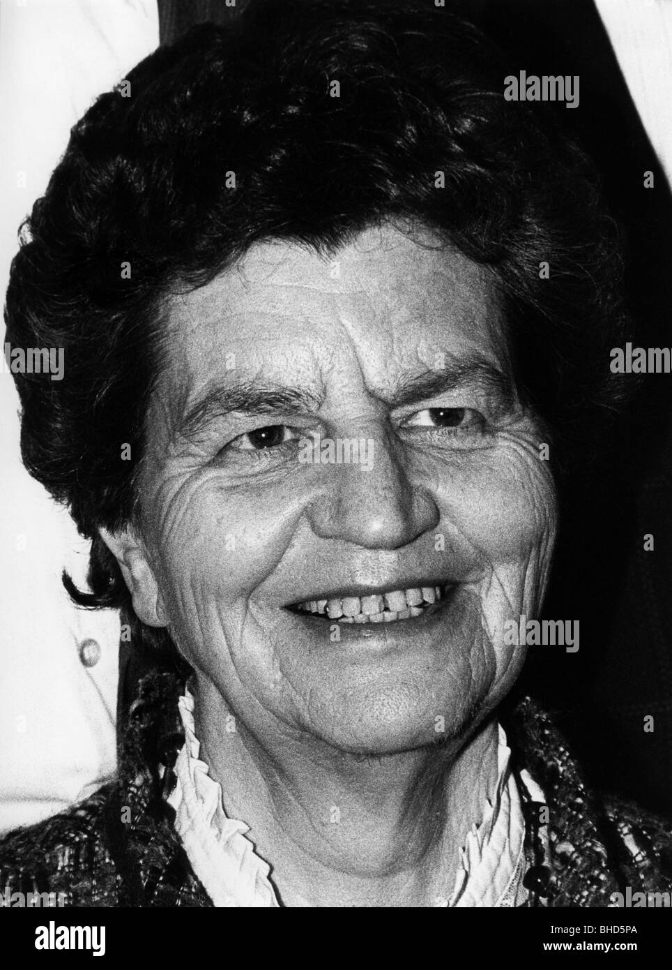 Funcke, Liselotte, 20.7.1918 - 2.8.2012, German politician (FDP), Federal Commissioner for Foreigners, portrait, - Stock Image