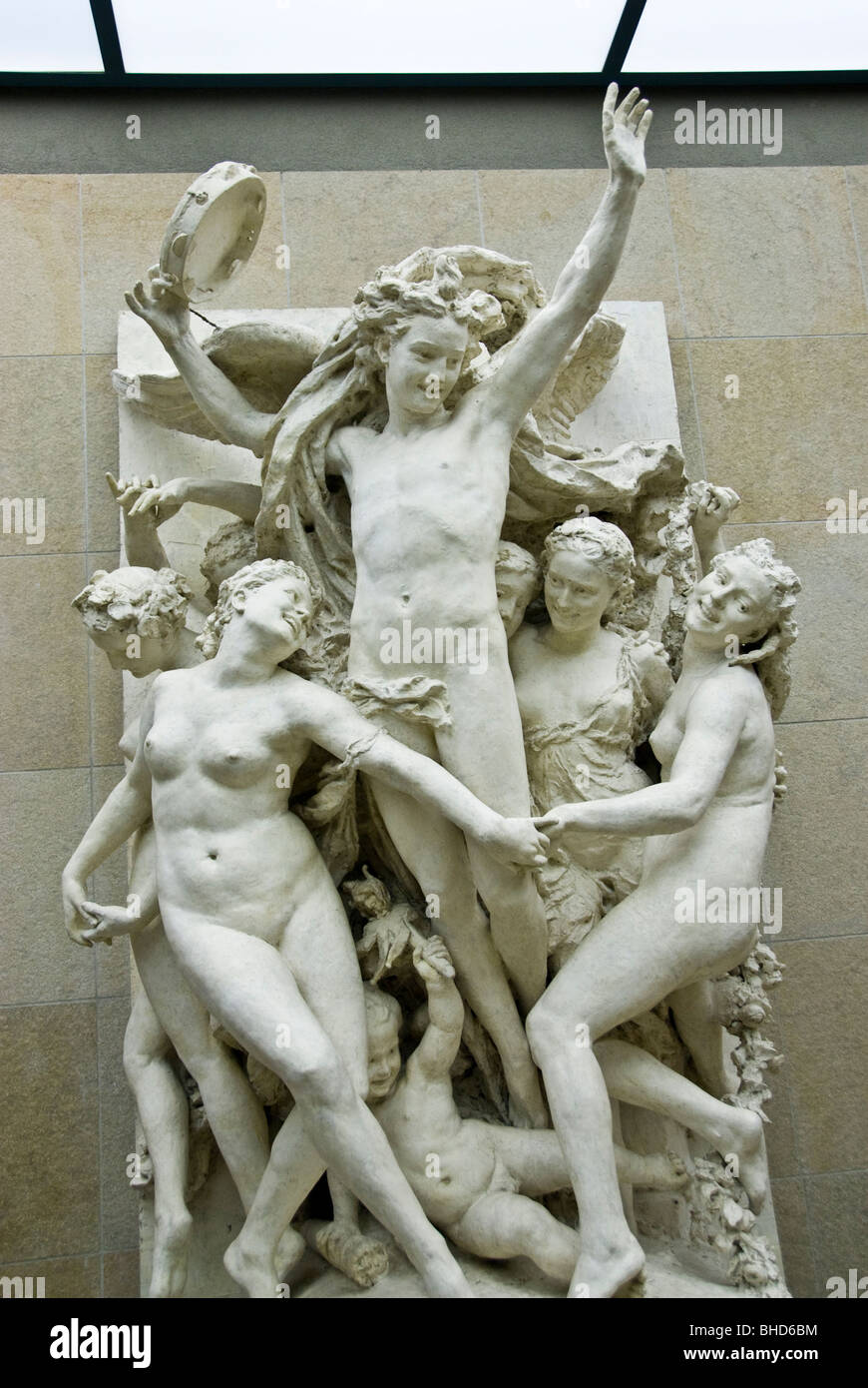 """Paris, France- Orsay Museum, Central Sculpture Aisle, with Collection of French 19th century Sculpture, """"Dance"""" Stock Photo"""