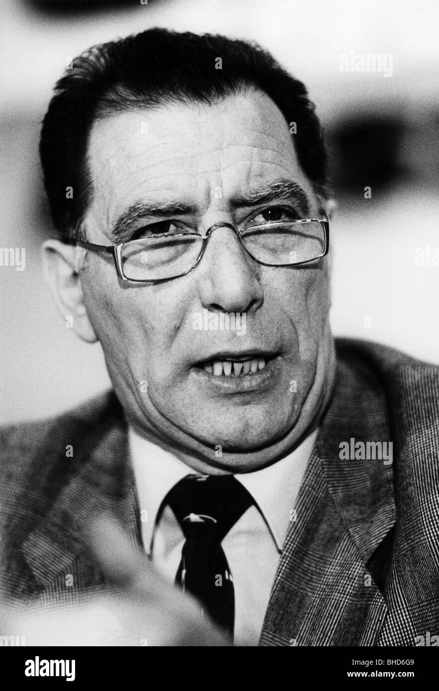 Geuenich, Michael, member of the German Confederation of Trade Unions, portrait, 1985, Additional-Rights-Clearances - Stock Image
