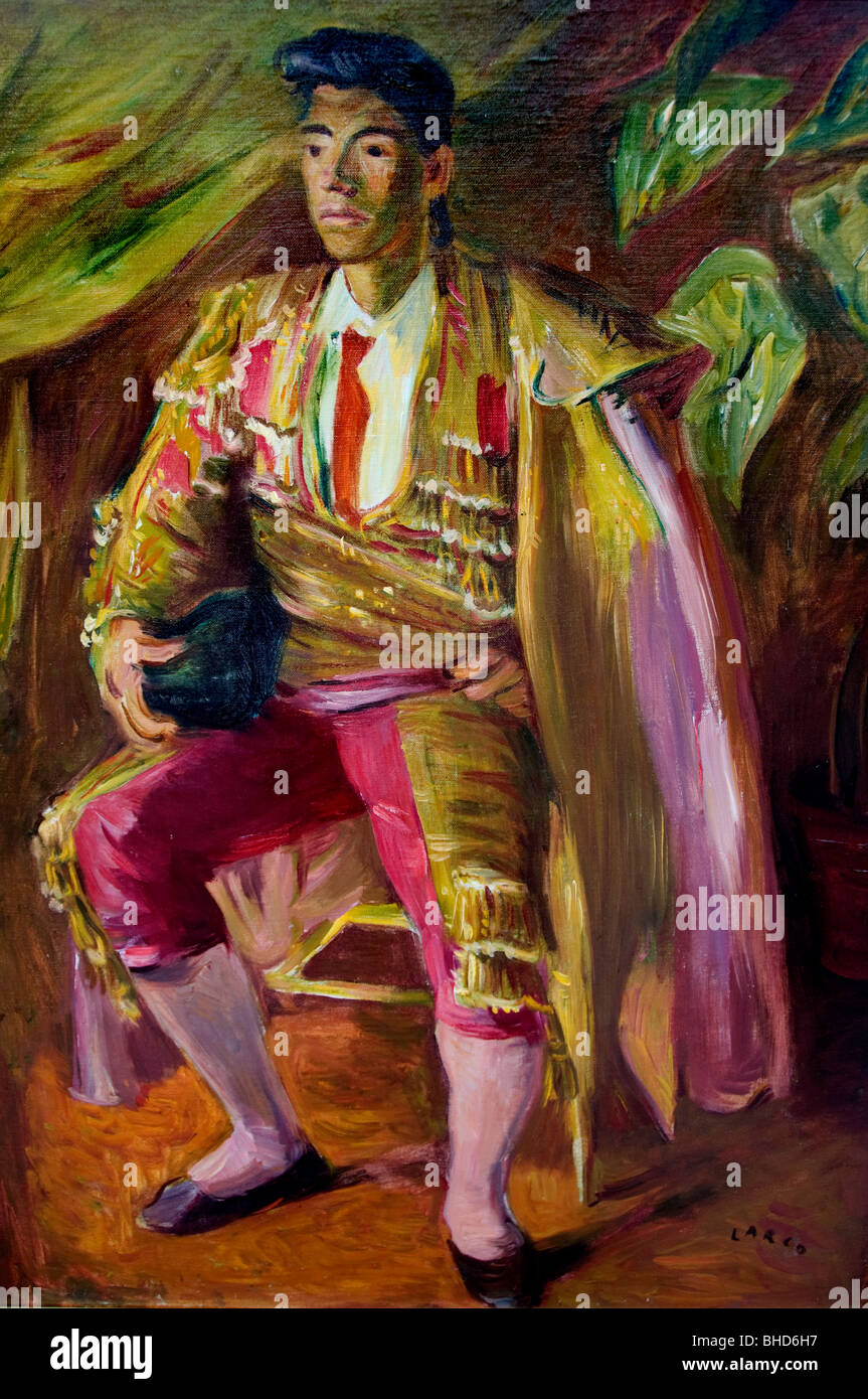 bull fighter Buenos Aires Argentina painting - Stock Image