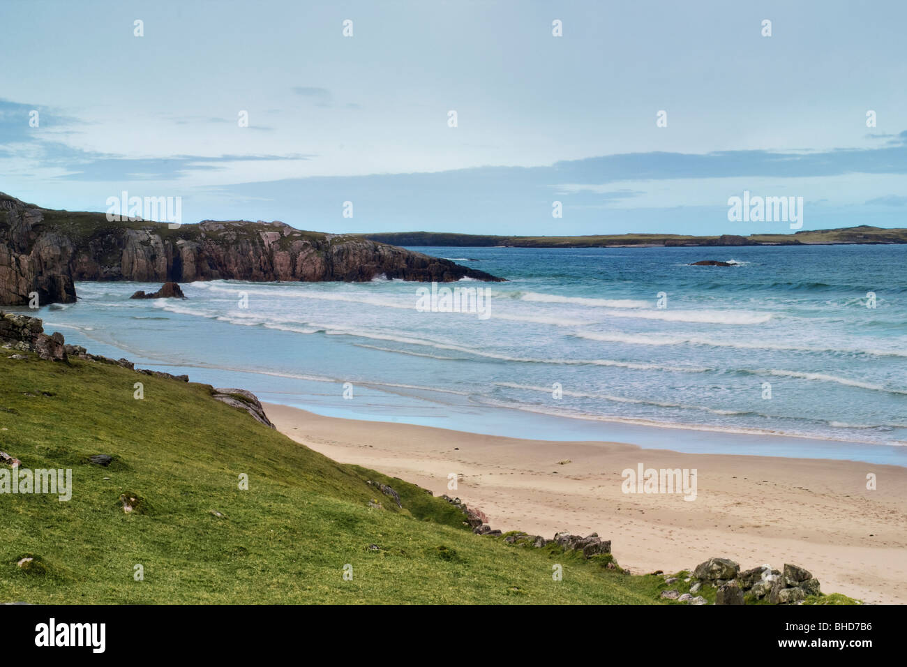 Traigh Allt Chailgeag Beach near Durness and Sangobeg North Coast of Scotland - Stock Image