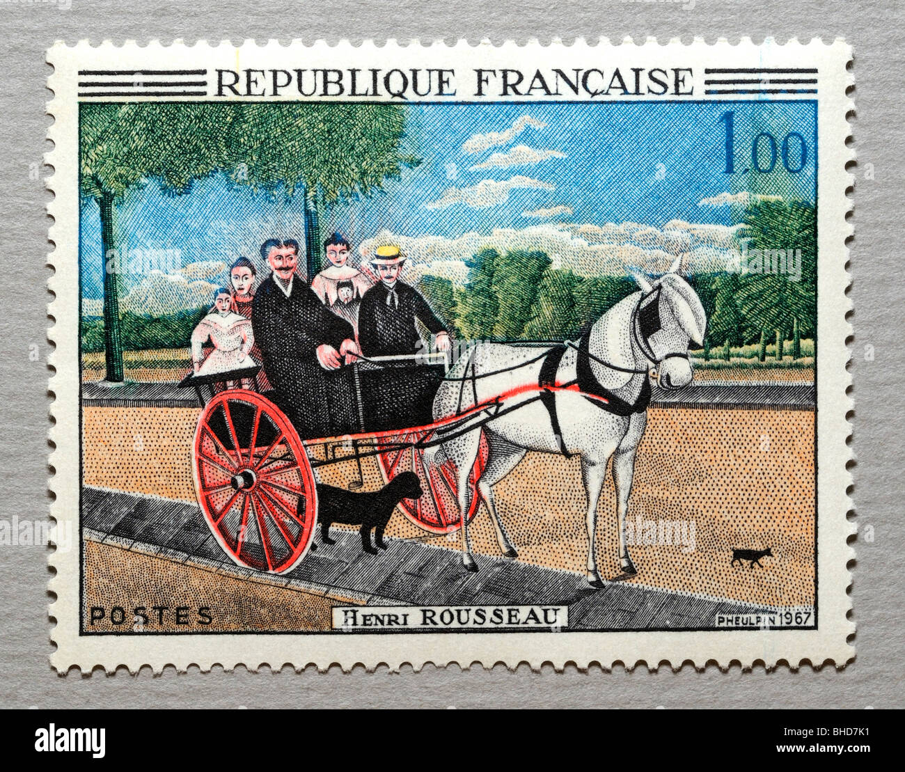 French Postage Stamp. - Stock Image