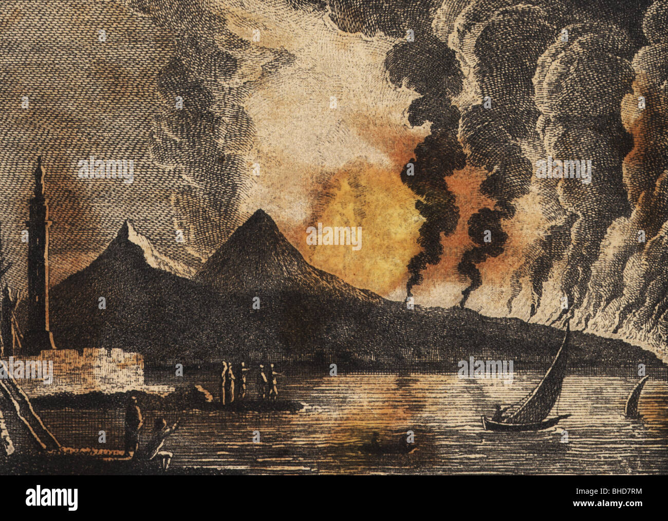 natural disaster / catastrophe, volcanic eruption, Vesuvius, 15.6.1794, Additional-Rights-Clearances-NA - Stock Image