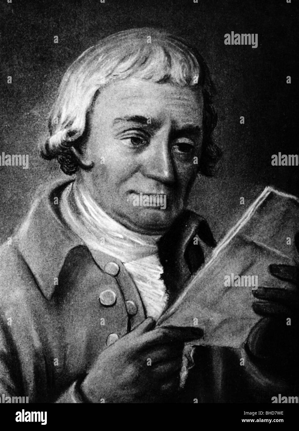Heyne, Christian Gottlob, 25.9.1729 - 14.7.1812, German philologist, portrait, chalk drawing by J.E. Strecker, Additional - Stock Image