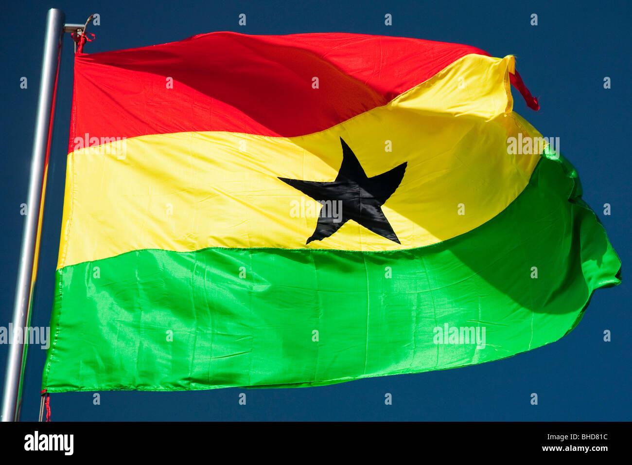 Flag of Ghana - Stock Image