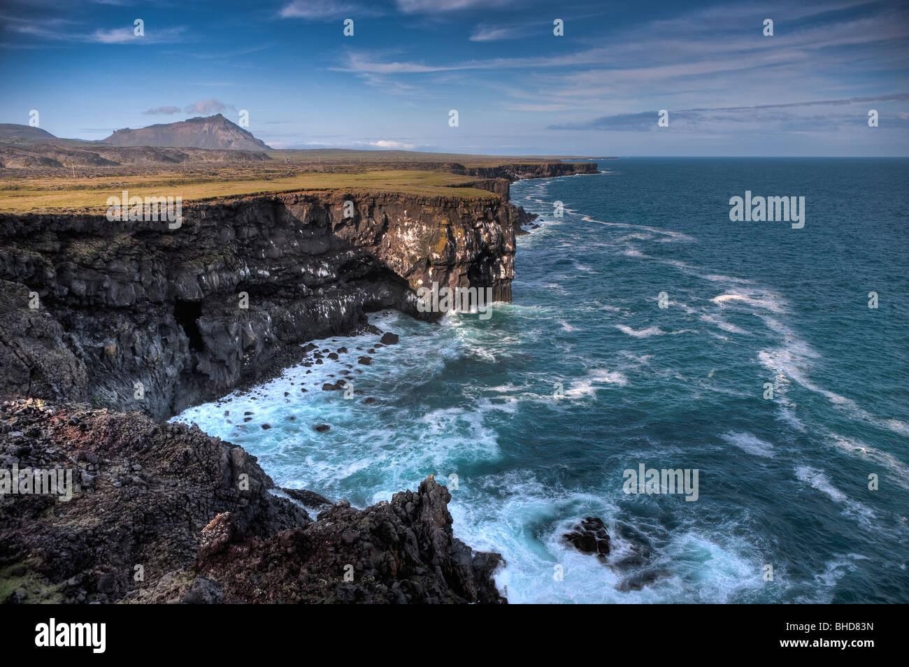 Arnarstapi, Snaefellsnes peninsula, Iceland - Stock Image