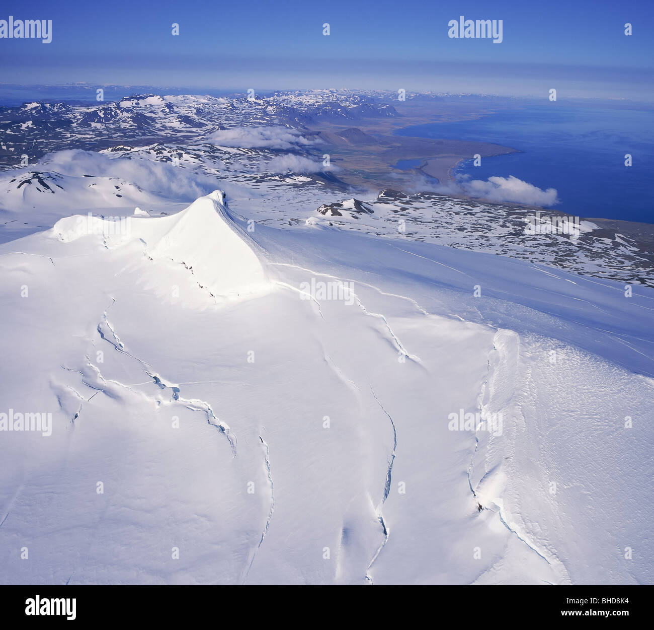 Snaefellsjokull glacier, Snaefellsnes Peninsula - Stock Image