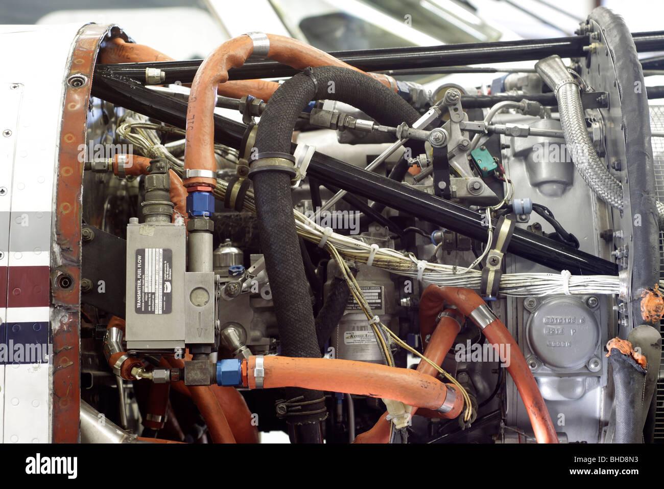 Turboprop engine - Stock Image