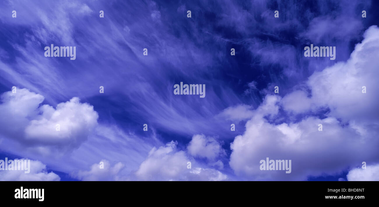 Cumulus Clouds, Iceland - Stock Image