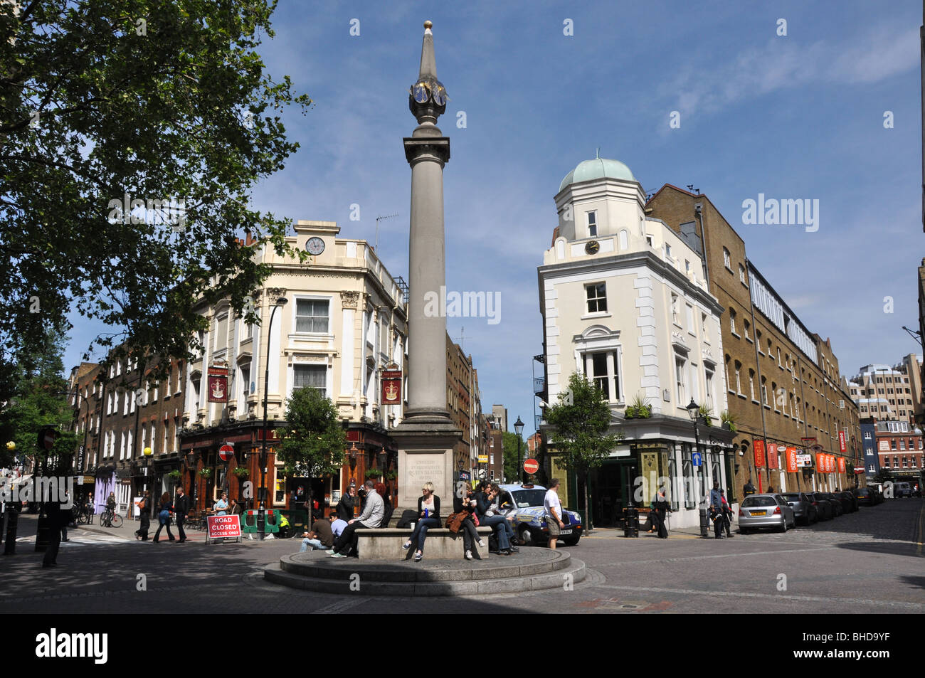 Seven Dials Covent Garden London UK : is a small but well-known  junction in the West End of London - Stock Image