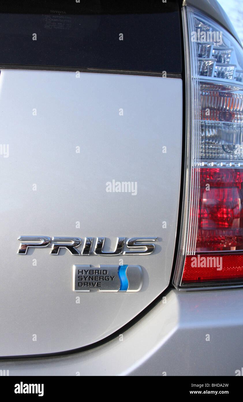 A Toyota Prius hybrid car. - Stock Image
