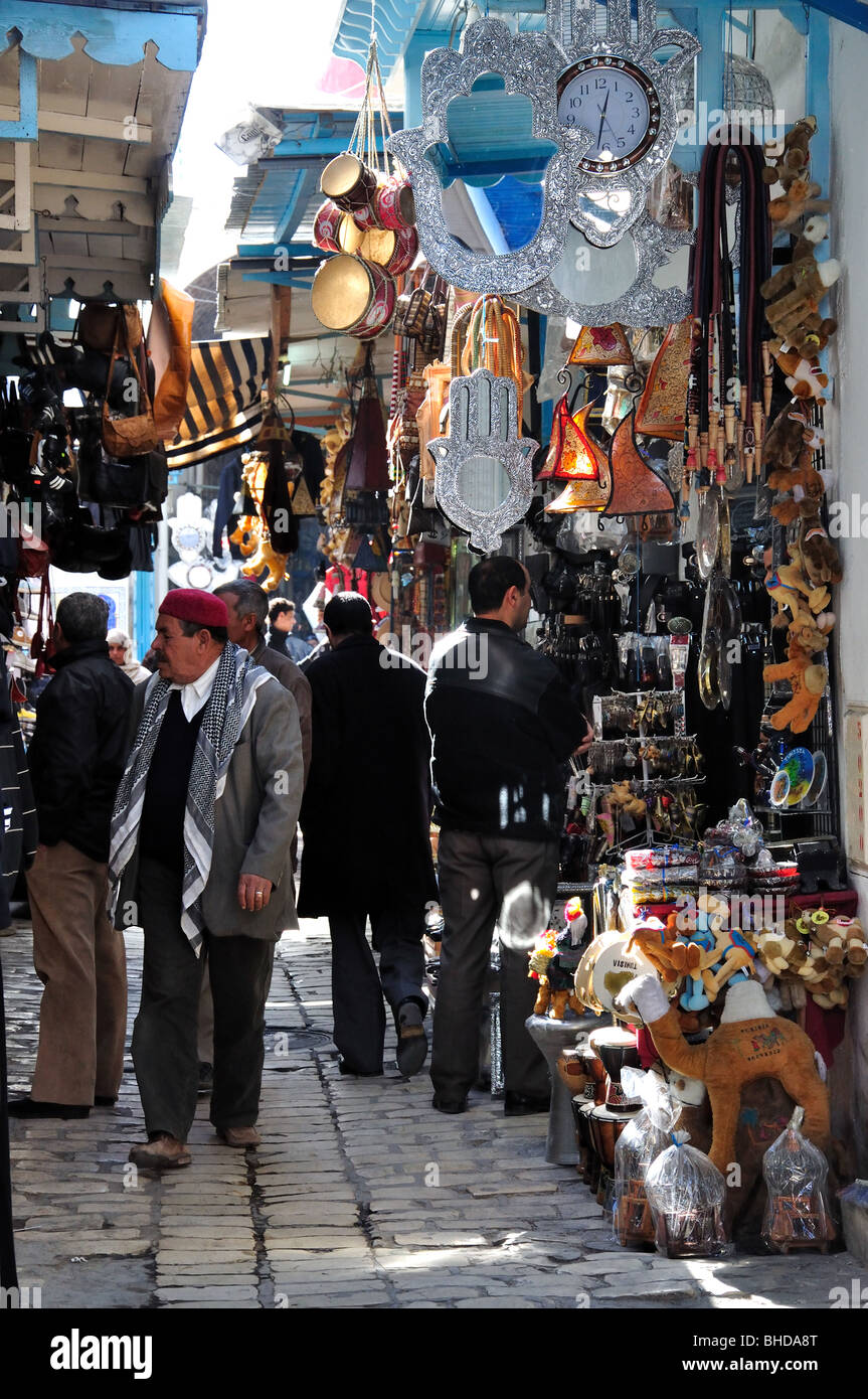Shops in Sousse Medina, Sousse, Sousse Governorate, Tunisia Stock Photo