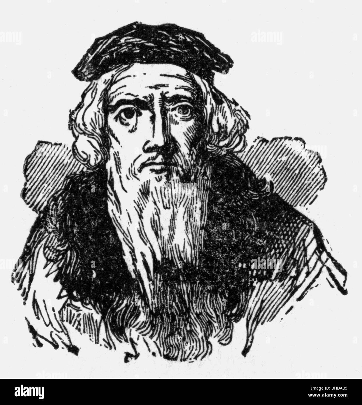 Cabot, Sebastian (Caboto), 1472/1884 - 1557, Italian navigator, explorer, portrait, Additional-Rights-Clearances - Stock Image
