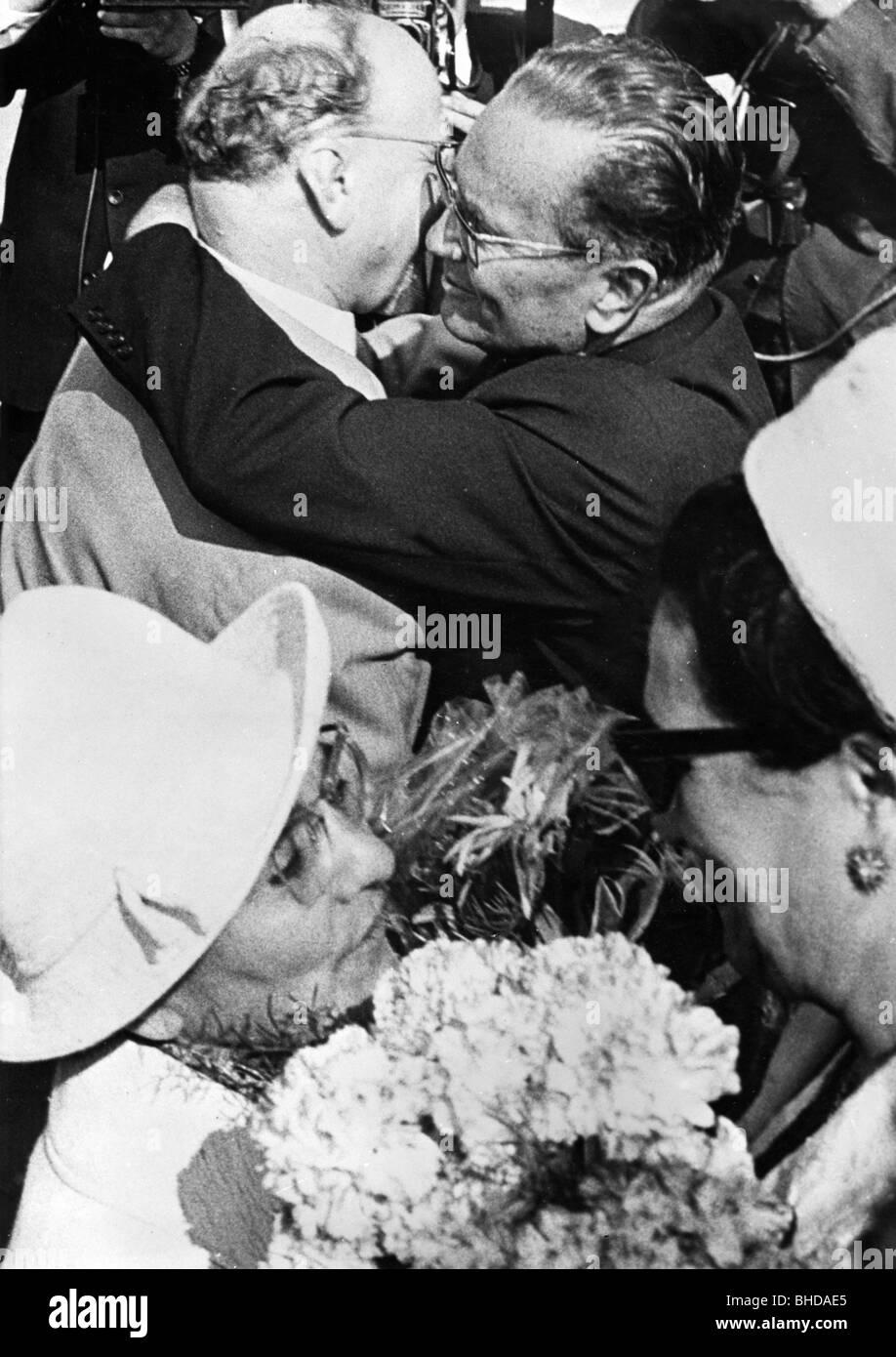 Tito (Josip Broz), 25.2.1892 - 4.5.1980, Yugoslavian politician, President 14.1.1953 - 4.5.1980, state visit to Stock Photo