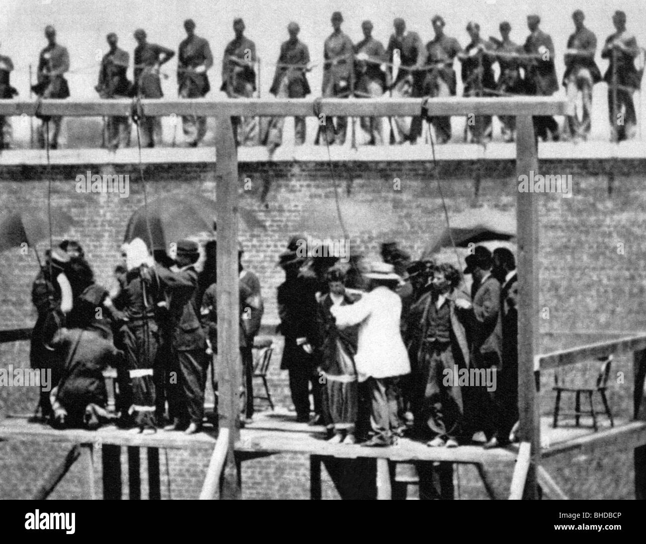 geography / travel, USA, American Civil War 1861 - 1865, murder of  President Abraham Lincoln, Execution of the conspirators Mary Surratt,  Lewis Powell, ...