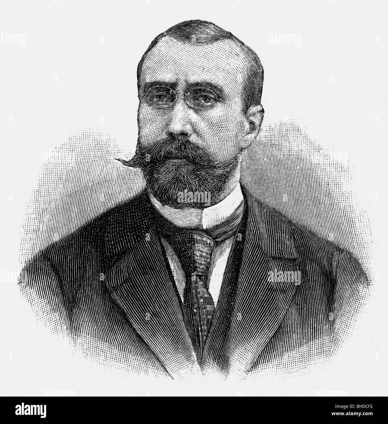 Habert, Marcel, second half of the 19th century, French politician, portrait, wood engraving, Additional-Rights - Stock Image