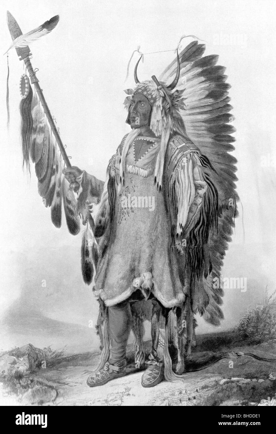 geography / travel, United States of America, American Indians, Mato Topah, circa 1800 - 30.7.1837, chieftain of - Stock Image