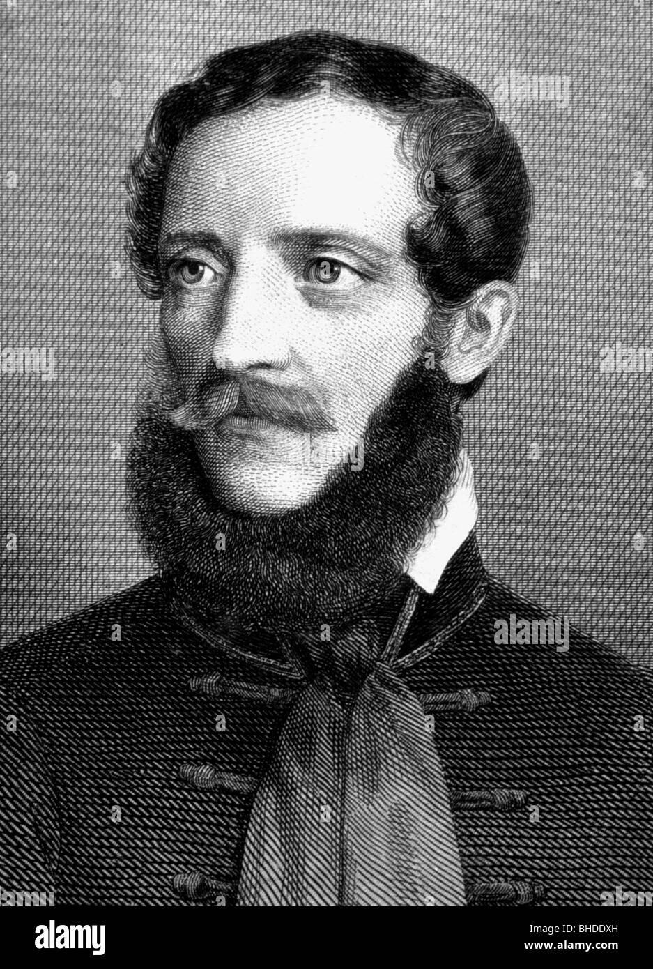 Kossuth, Lajos, 16.9.1802 - 20.3.1894, Hungarian politician, portrait, copper engraving, circa 1850, Artist's Copyright Stock Photo