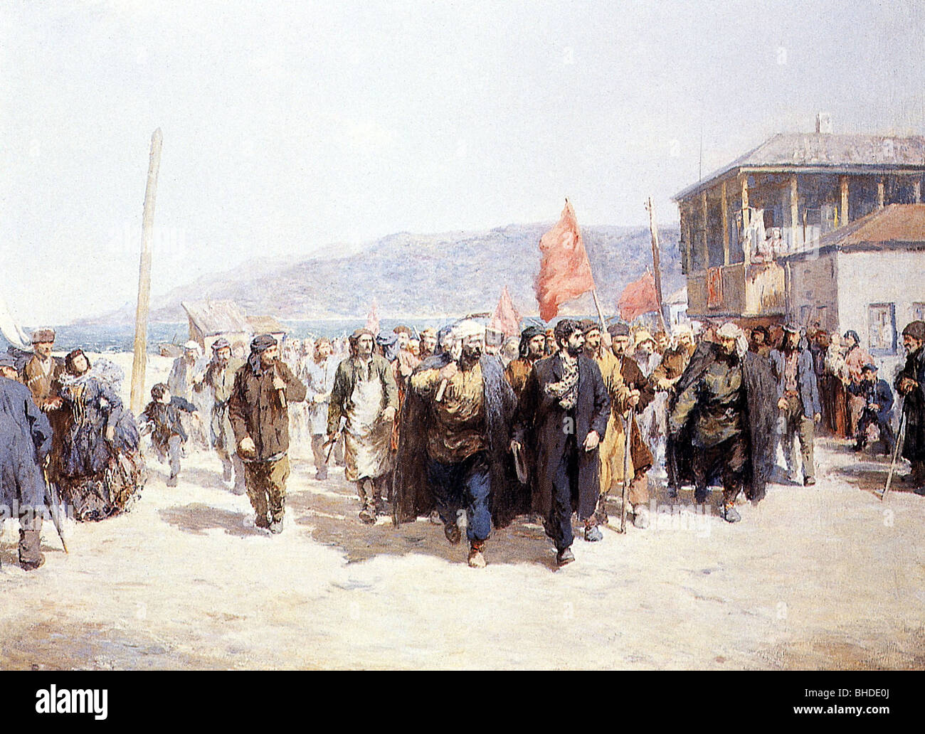 geography / travel, Russia, politics, demonstration of the Communists under Stalin, Batumi, 1912, Additional-Rights - Stock Image