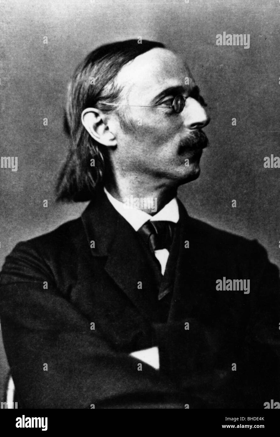 Cornelius Peter, 24.12.1824 - 26.10.1874, German composer, portrait, glasses, moustache,Stock Photo
