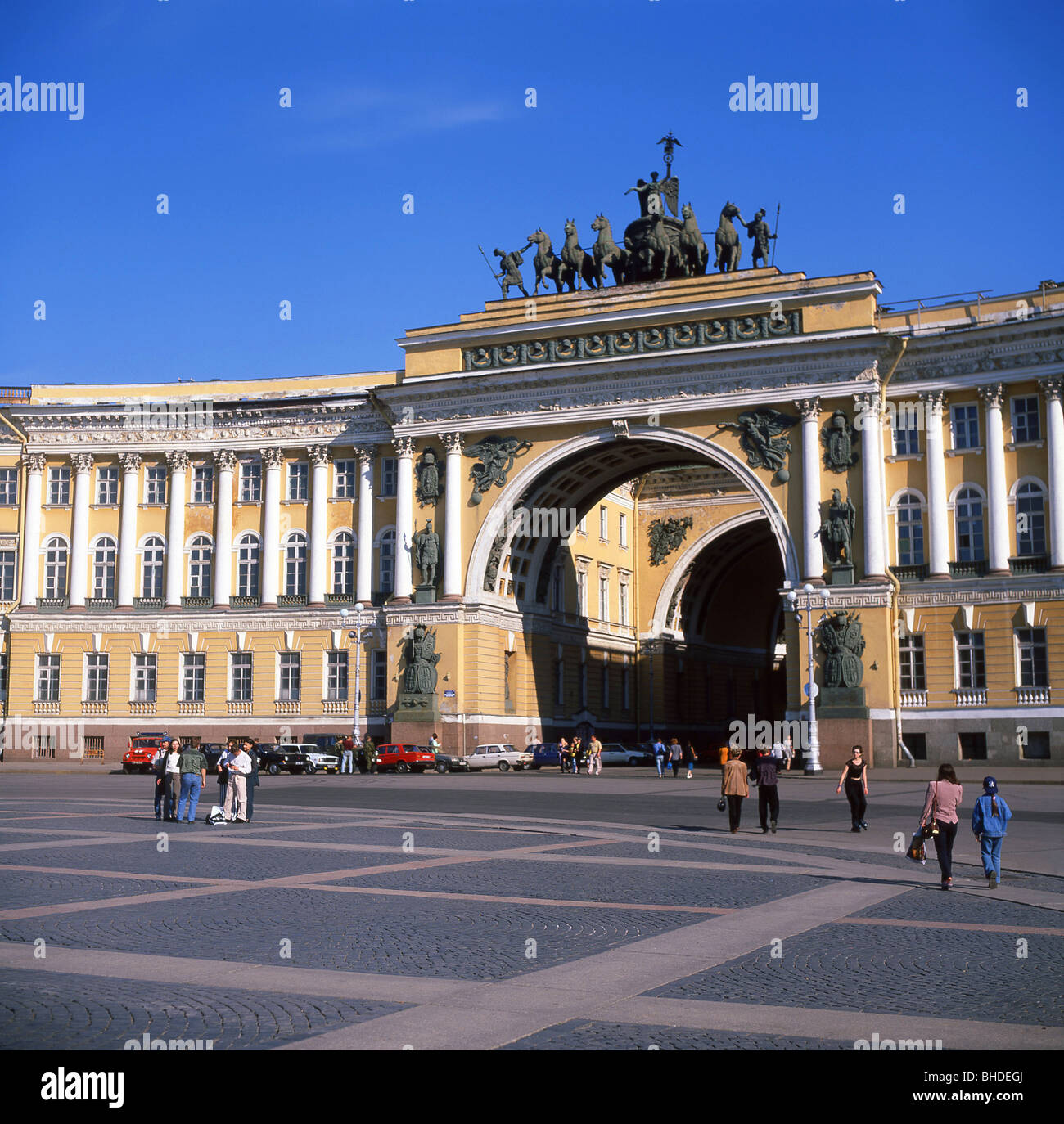The General Staff Building, Palace Square, Saint Petersburg, Northwestern Region, Russia - Stock Image