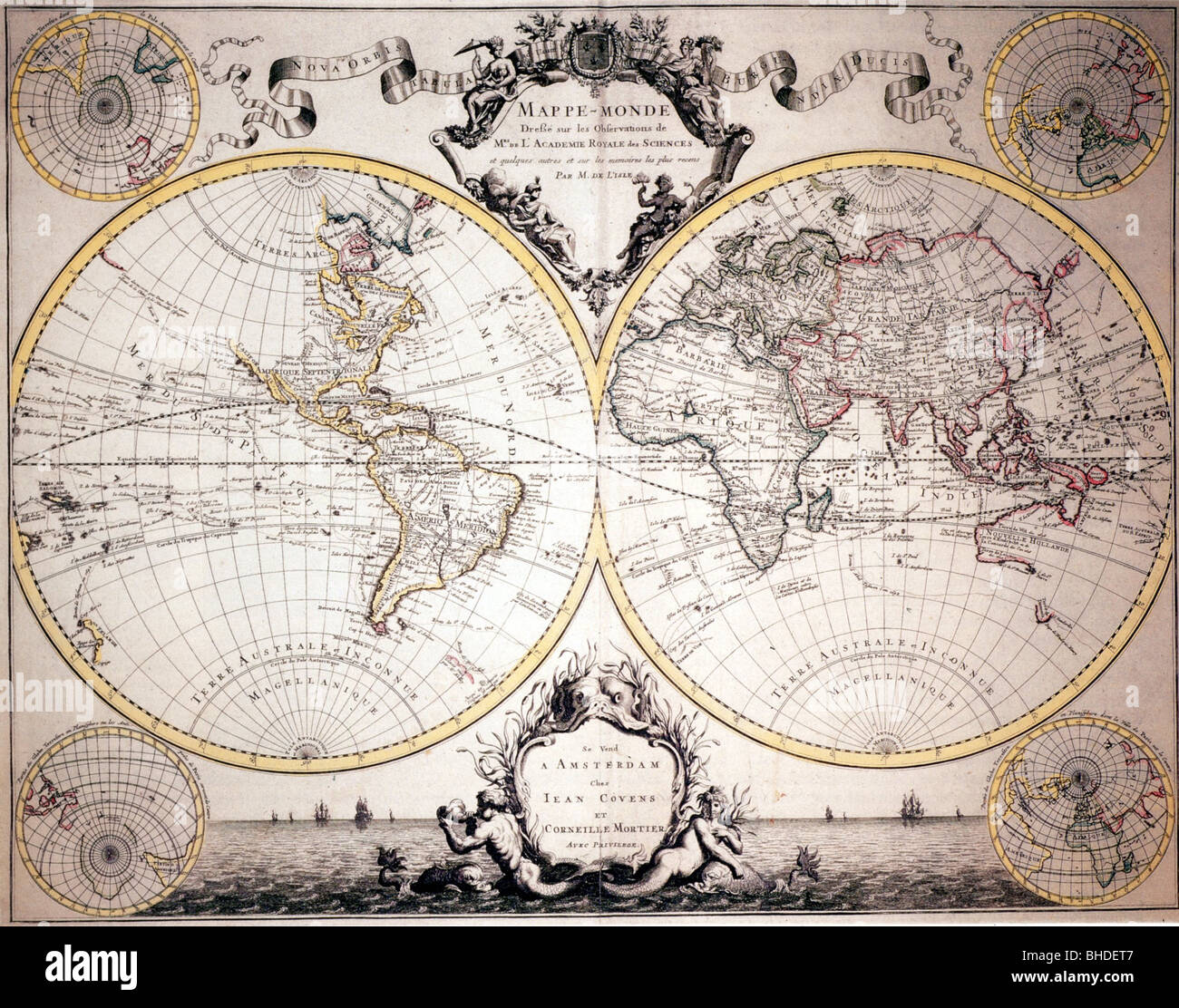 Cartography world maps map of guillaume delisle atlas nouveau cartography world maps map of guillaume delisle atlas nouveau amsterdam 1730 europe africa asia america australia 1 gumiabroncs Image collections