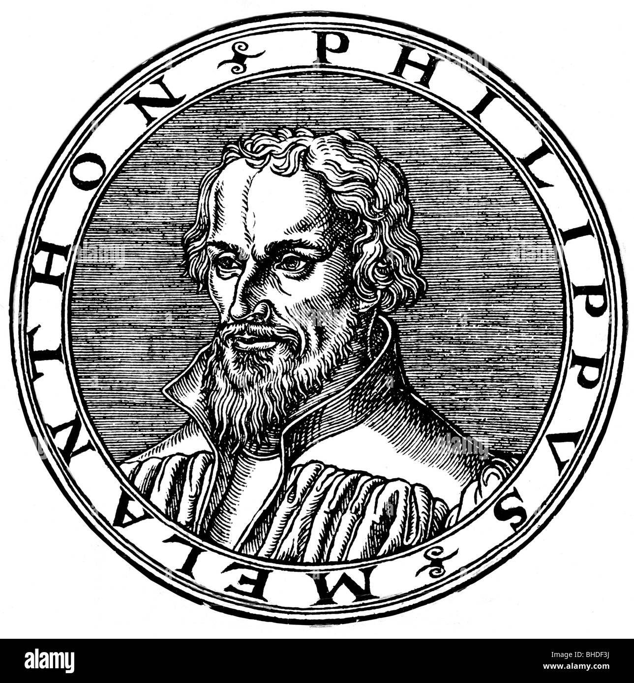 Melanchthon, Philipp, 16.2.1497 - 19.4.1560, German humanist and reformer, portrait, woodcut, 1546, , Additional - Stock Image