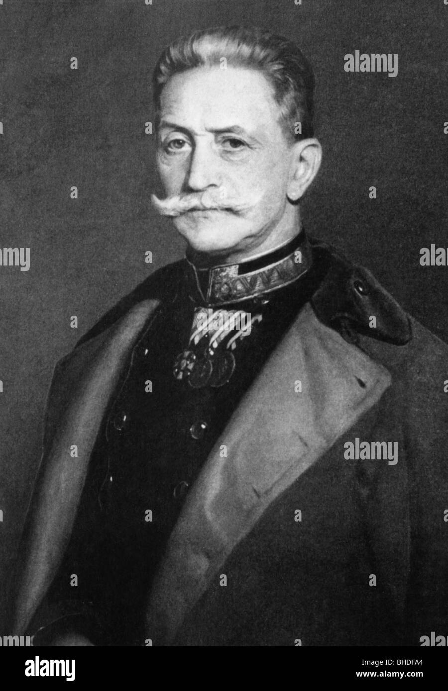Conrad von Hoetzendorf, Count, 11.11.1852 - 25.8.1925, Austrian field marshal, chief of the general staff of the - Stock Image