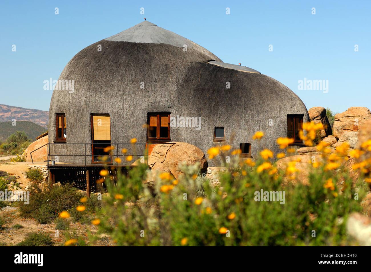 Dome-shaped Namakwa Mountain Suite, Naries Namakwa Retreat, Naries, South Africa - Stock Image