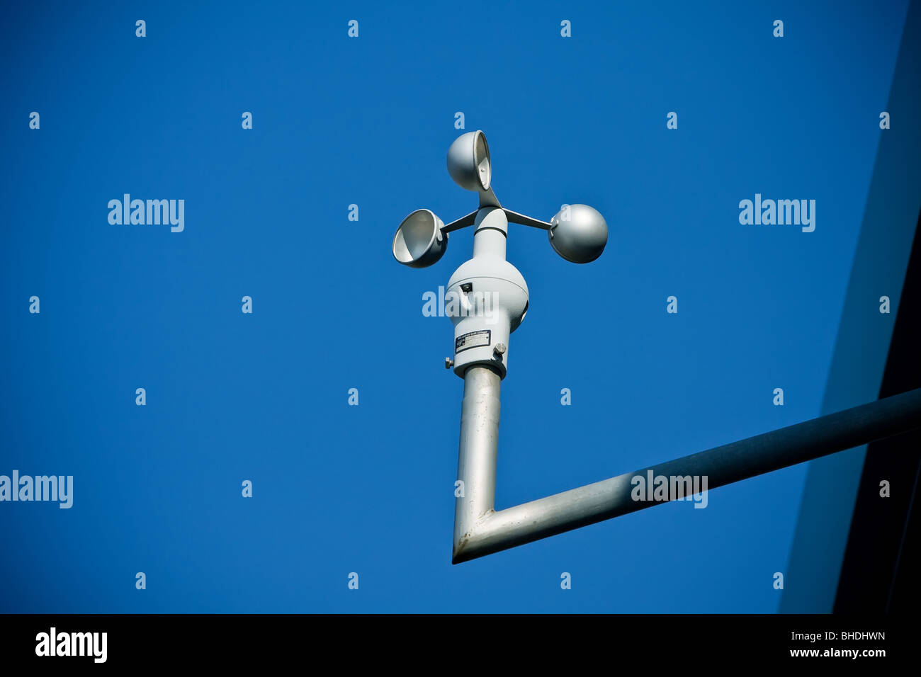 Anemometer at a meteorological station - Stock Image