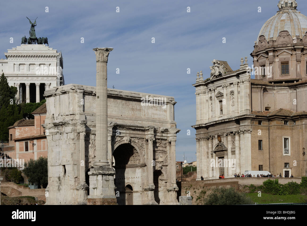 The Forum of ancient Rome Italy - Stock Image