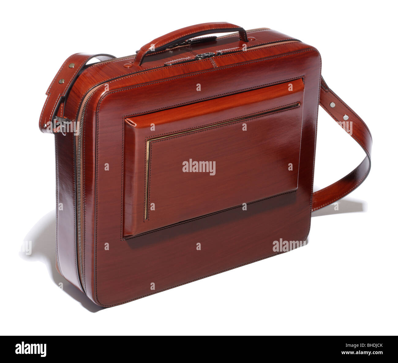 Alfred Dunhill leather briefcase - Stock Image