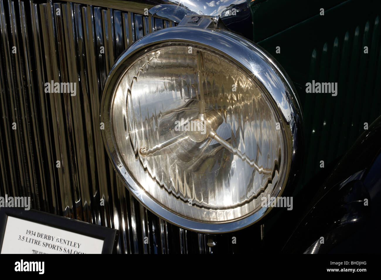 Old car headlight - Stock Image