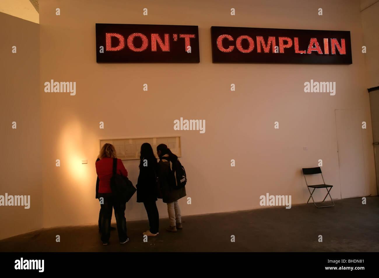 Istanbul Biennial 2009, Turkey - Stock Image
