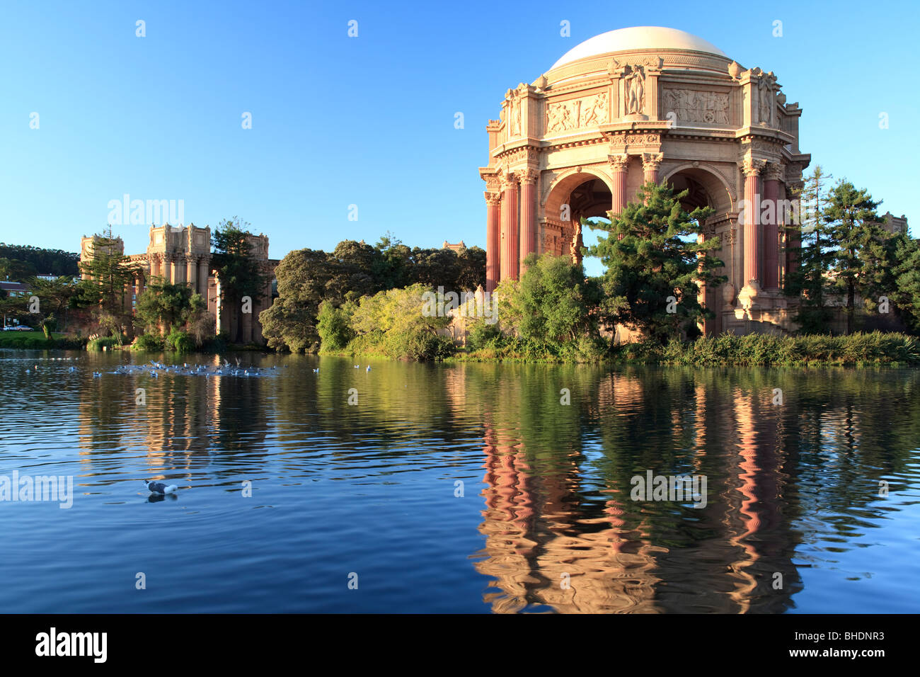 The Palace of Fine Arts , built 1915 for the Panama- Pacific Internation exhibition - Stock Image