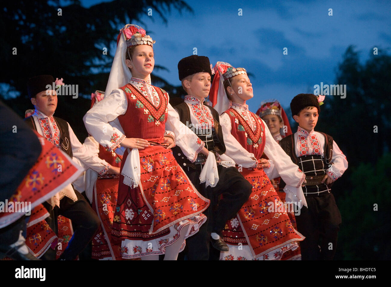 Bulgaria,Kazanlak,Festival of the Roses,Traditional clothing,Folklore Costumes - Stock Image