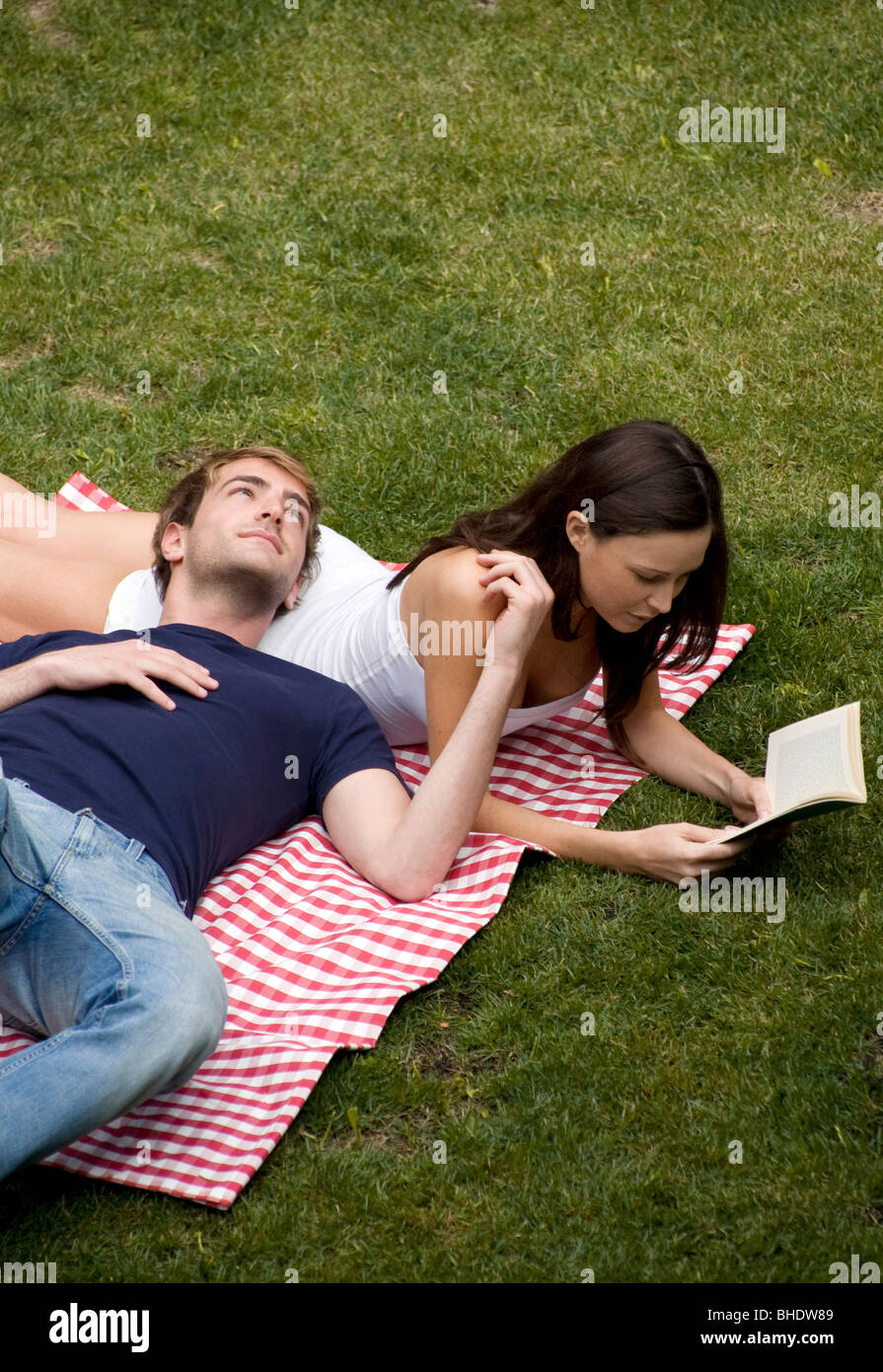 couple on the meadow - Stock Image