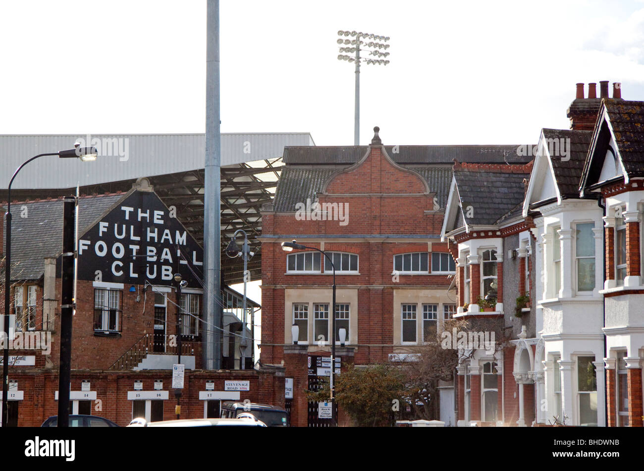 Craven Cottage, home of Fulham Football Club - Stock Image