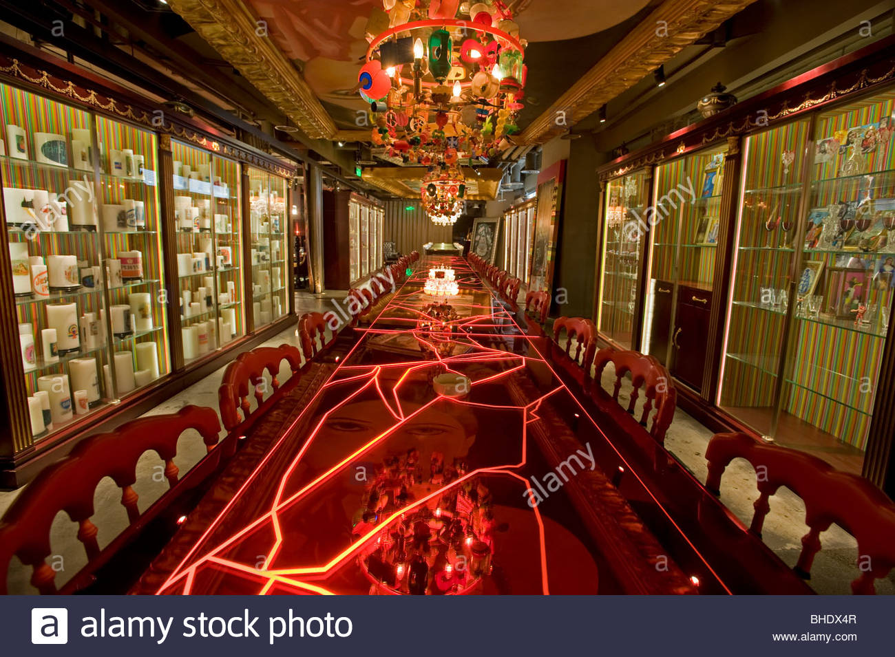 The 'Lan' lounge bar designed by french designer Philippe Stark is 4000 square meters. Beijing, china - Stock Image