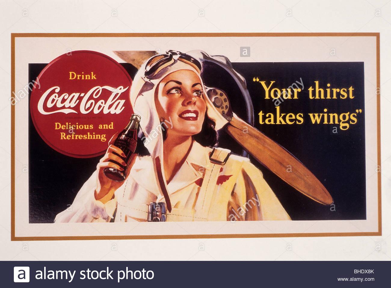 old coca cola poster atlanta georgia u s a stock photo 27965523 alamy. Black Bedroom Furniture Sets. Home Design Ideas