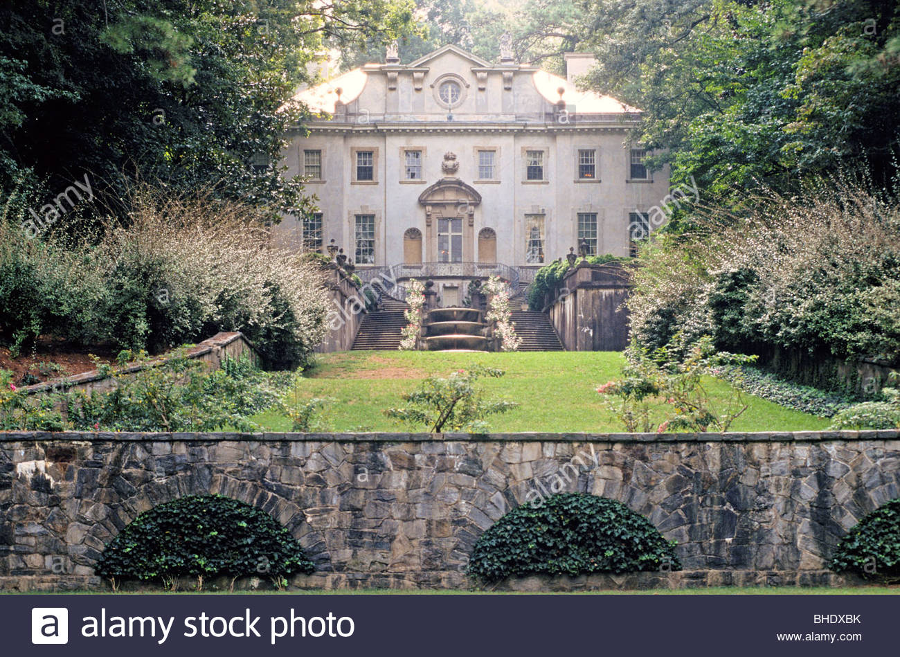 The Swan House is an excellent example of the Second Renaissance Revival style and represents the architectural - Stock Image