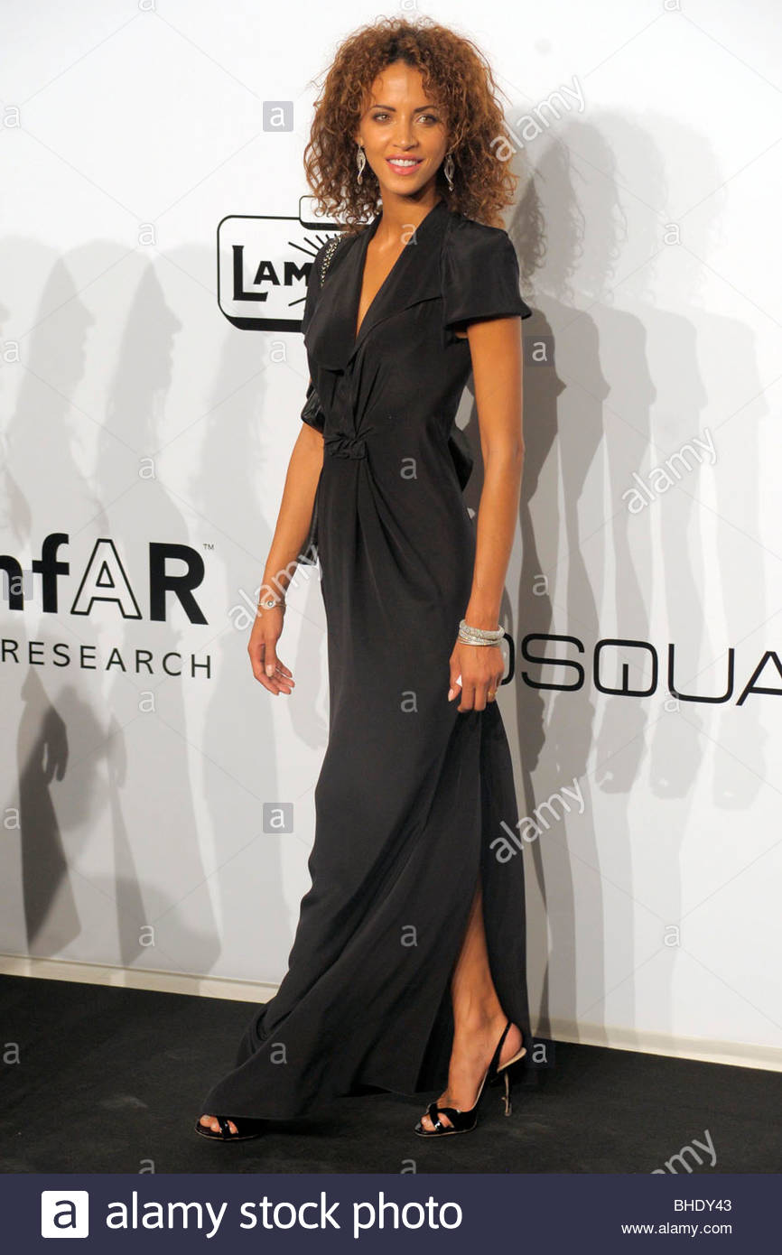 noemie lenoir, milan 2009, amfar gala evening - Stock Image