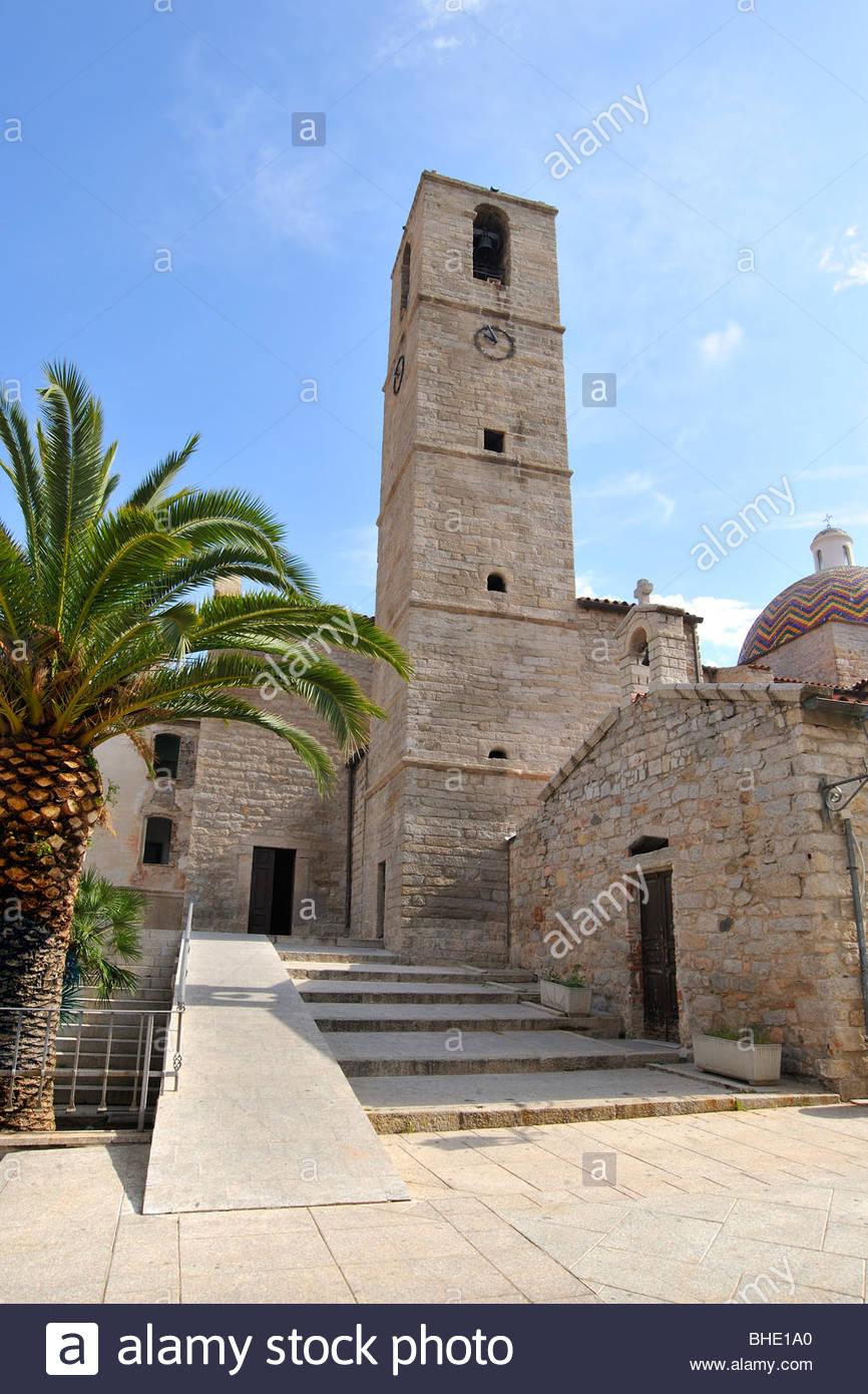 church of saint paul, olbia, sardinia, italy - Stock Image
