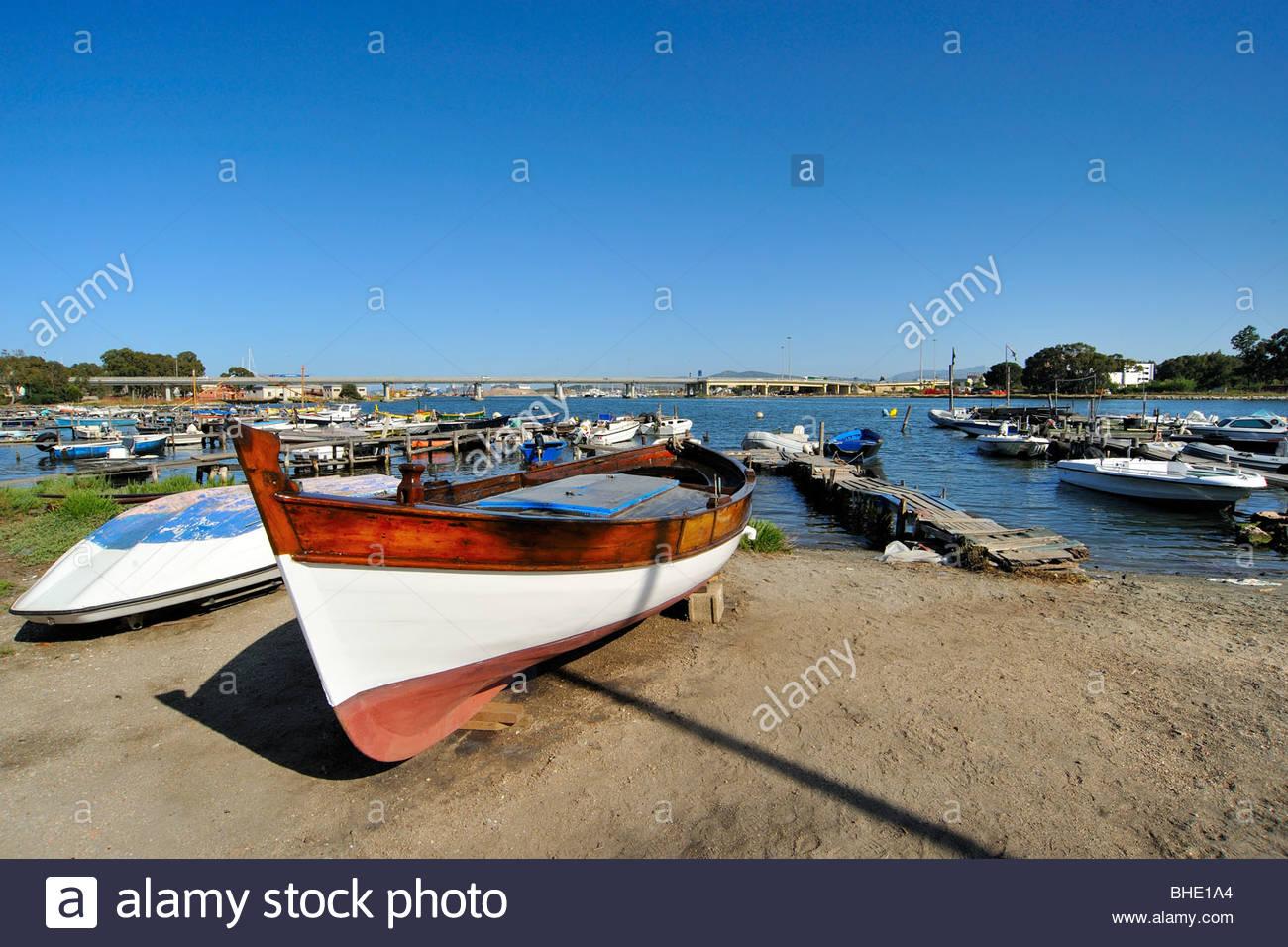 dock, olbia, sardinia, italy - Stock Image