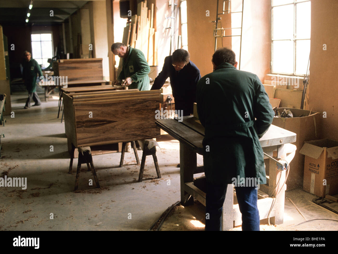 Furniture factory brianza lombardia italy stock image