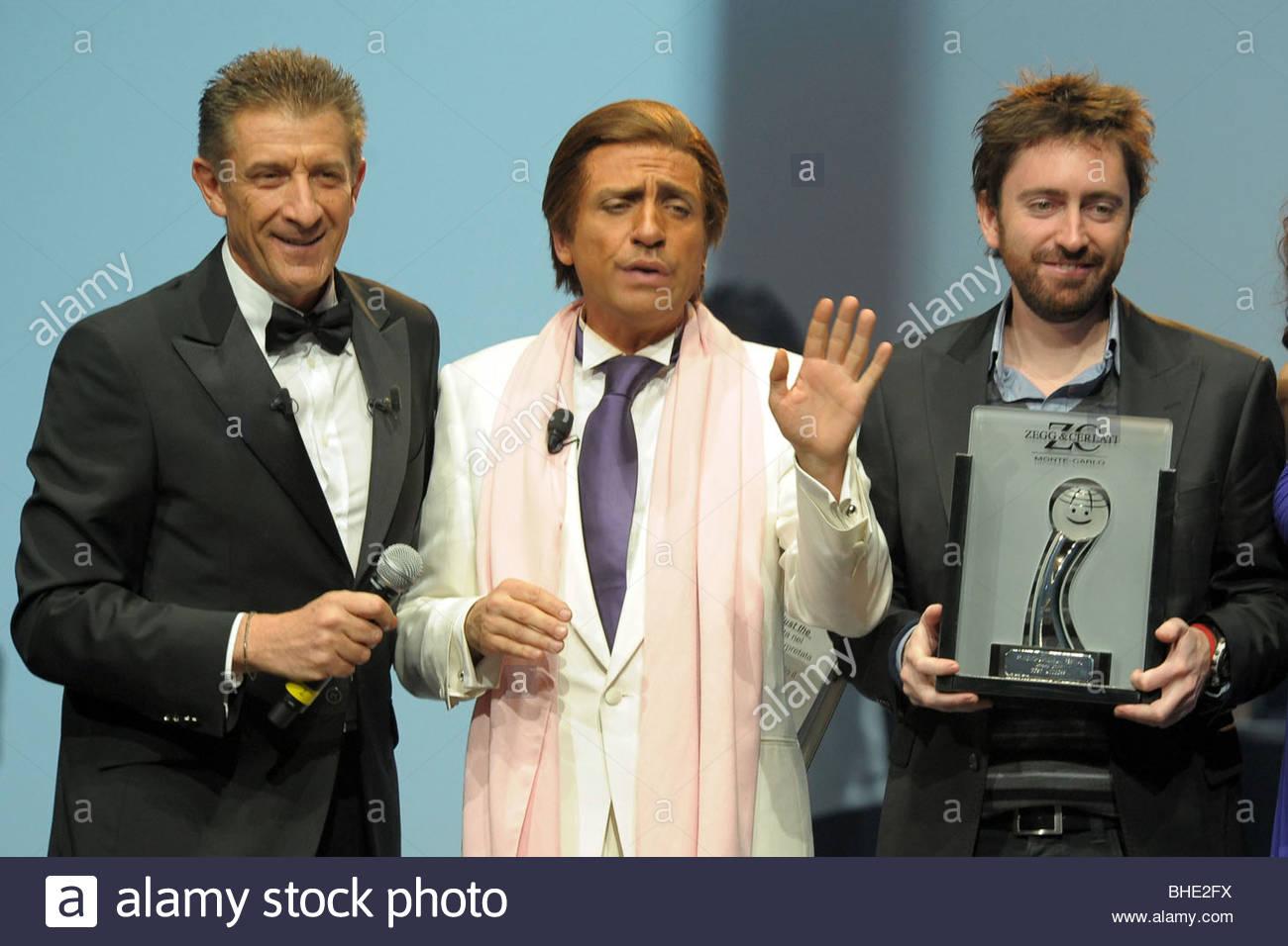 ezio greggio, dario ballantini, daniel sanchez arevalo, montecarlo film festival de la comedie - Stock Image