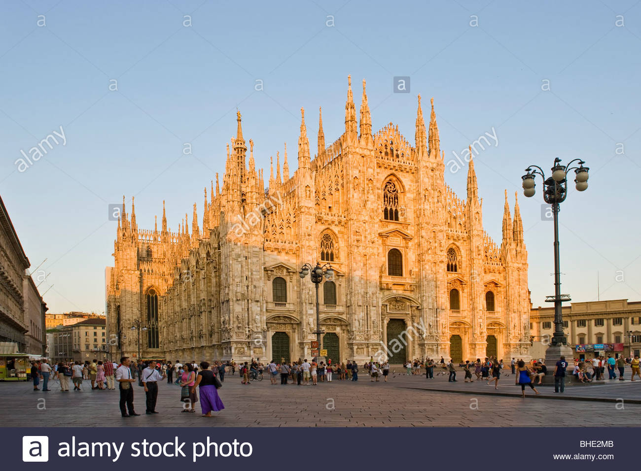 piazza del duomo, milan, lombardy, italy - Stock Image