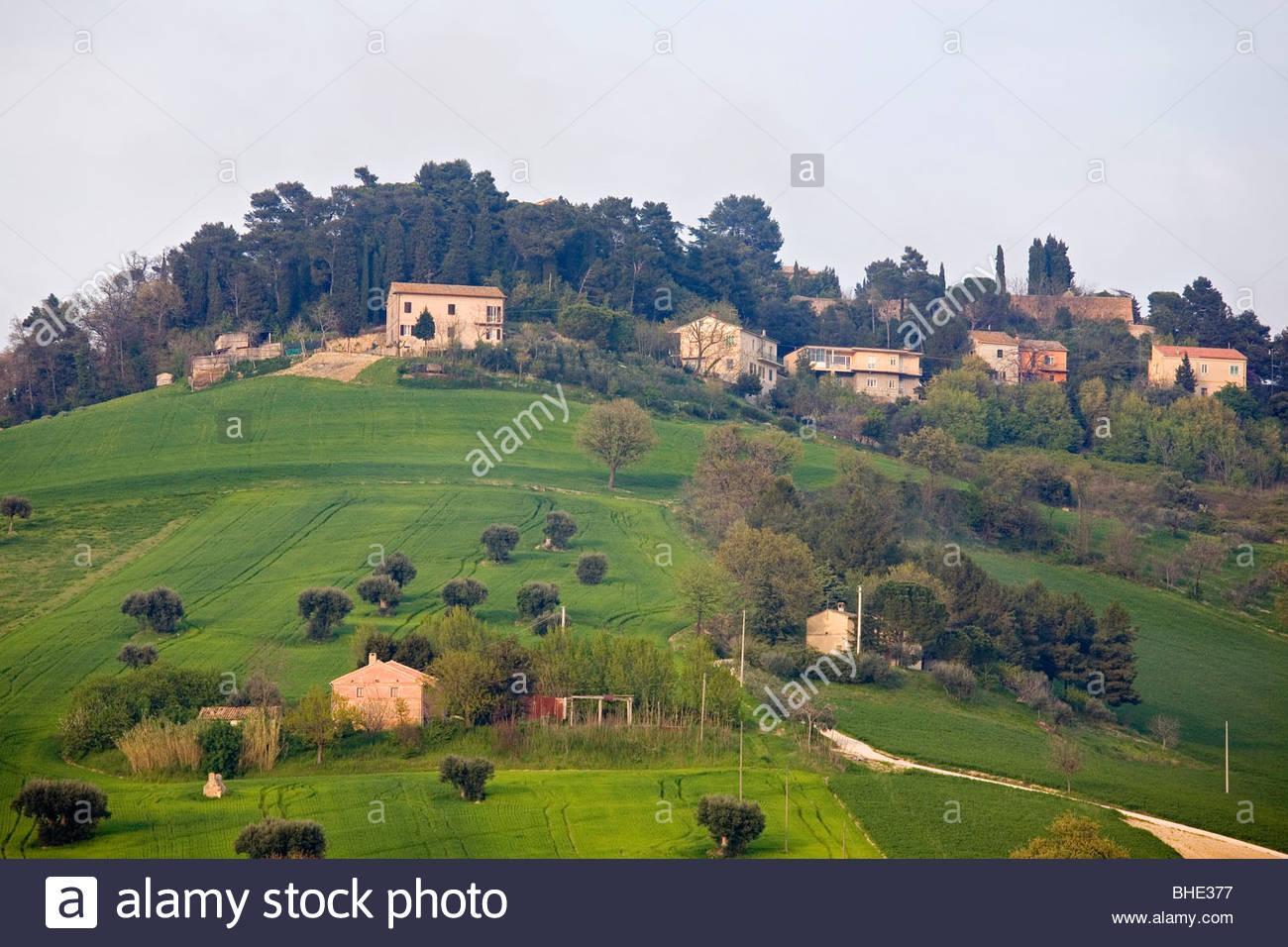 colle dell'infinito, recanati, marche, italia - Stock Image