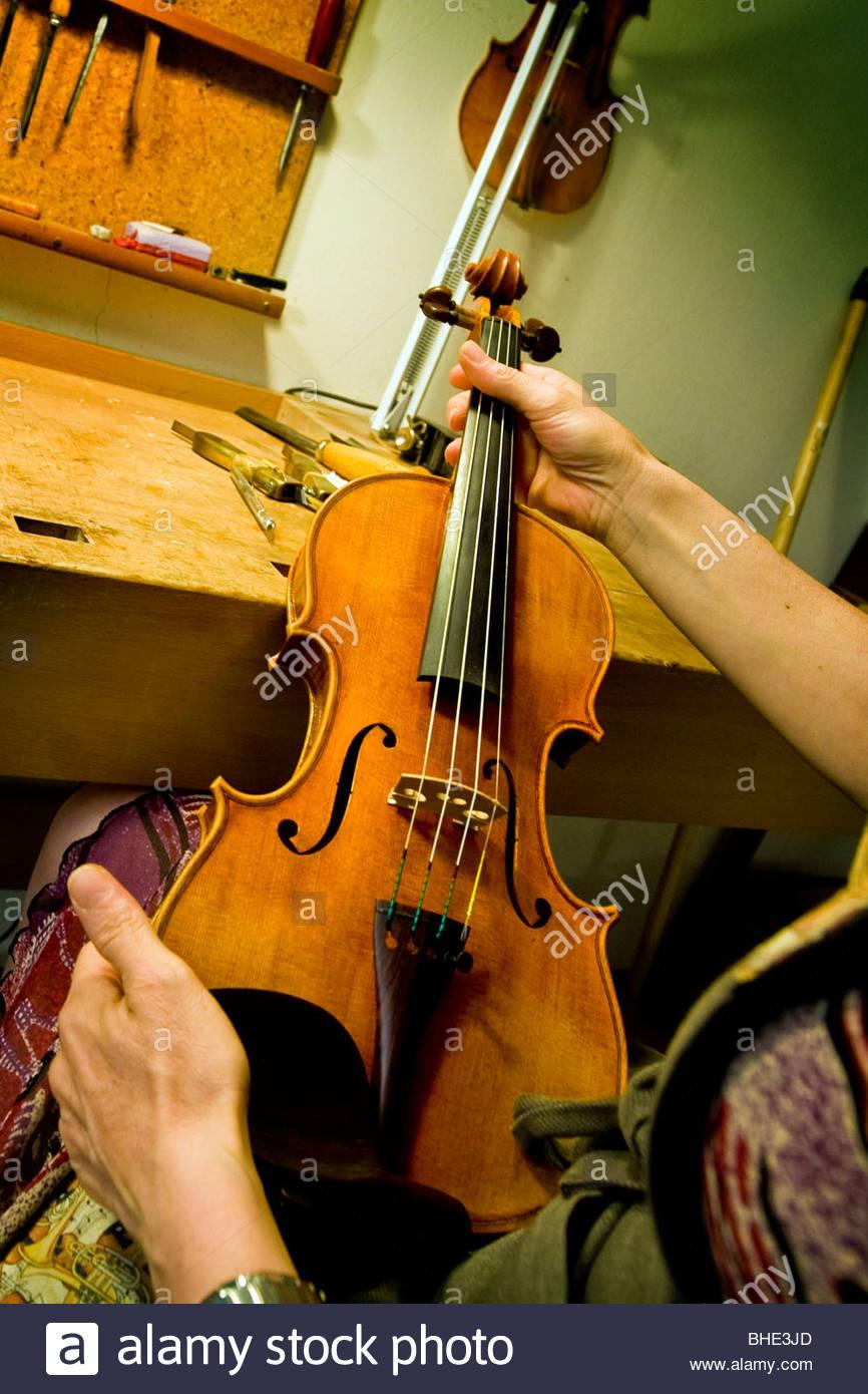 luthier, cremona, lombardia, italy Stock Photo
