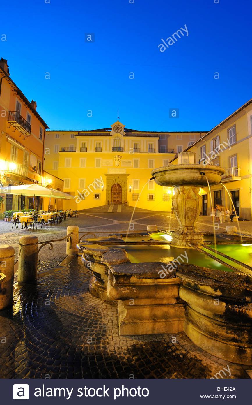piazza della libertà, castel gandolfo, lazio, italy - Stock Image
